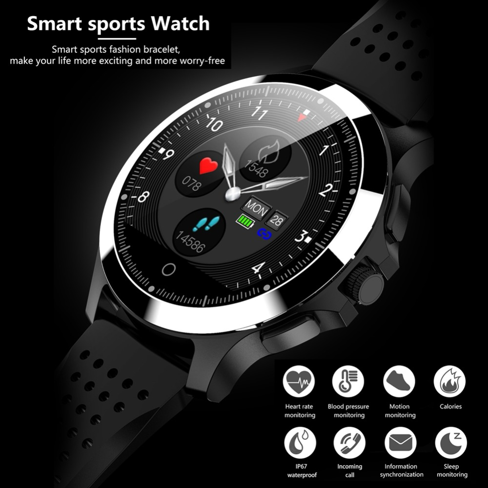 Newest W8 ECG+PPG Smart Band Blood Pressure REAL Heart rate Monitor sleeping monitor calories Sports Fitness Bracelet for Men