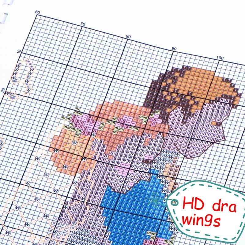 Neue Weihnachten Snowy Landschaft Für Stickerei handarbeiten Handwerk 14CT Unbedruckten Kreuzstich Kits Art DMC DIY Qualität Handgefertigten Dekor - 4