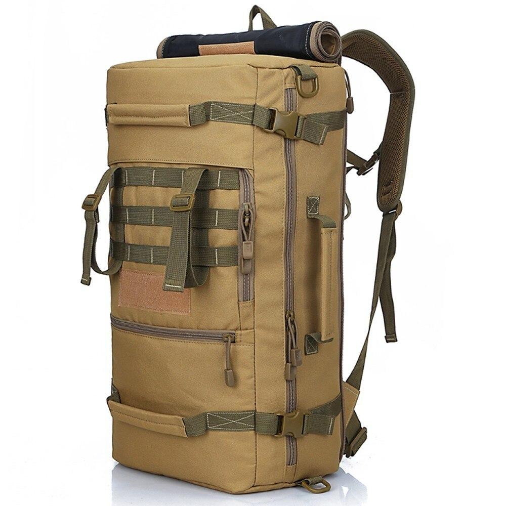 Imperméable à l'eau en plein air 50L sac armée tactique militaire sac à dos Camo Trekking sacs de voyage pour hommes femmes randonnée Camping chasse sac à dos