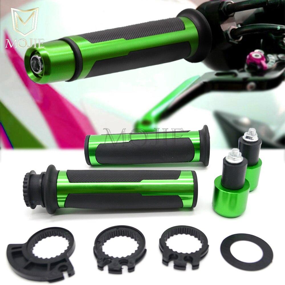 22mm Motorcycle Hand Grips Handle Bar Handlebar Grips For Kawasaki NINJA 250 300 R NINJA250 ZX250R EX250 NINJA300 ZX300R EX300