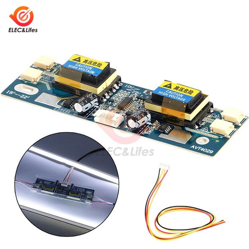 Универсальный инверторный модуль CCFL, 4 лампы, 10-30 в, плата высокого напряжения для ноутбука, Широкий ЖК-дисплей 15-22 дюйма