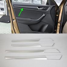 Auto accessories inner door handle cover 4pcs Car Styling For 2017 SKODA KODIAQ