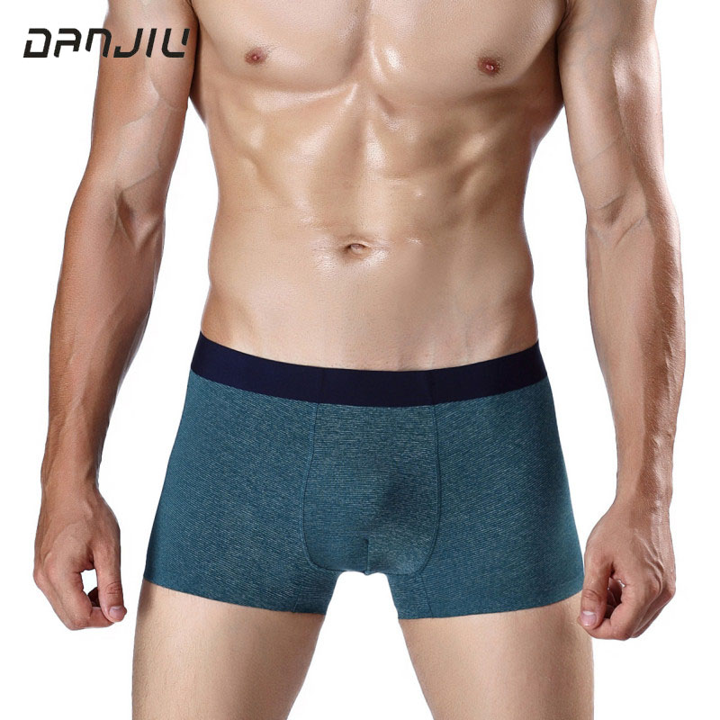 DANJIU Seamless Modal Soft Mens Underwear Fashion Business Wind Male Boxer Shorts Sexy Breathable Solid Men Underpants Cueca ...