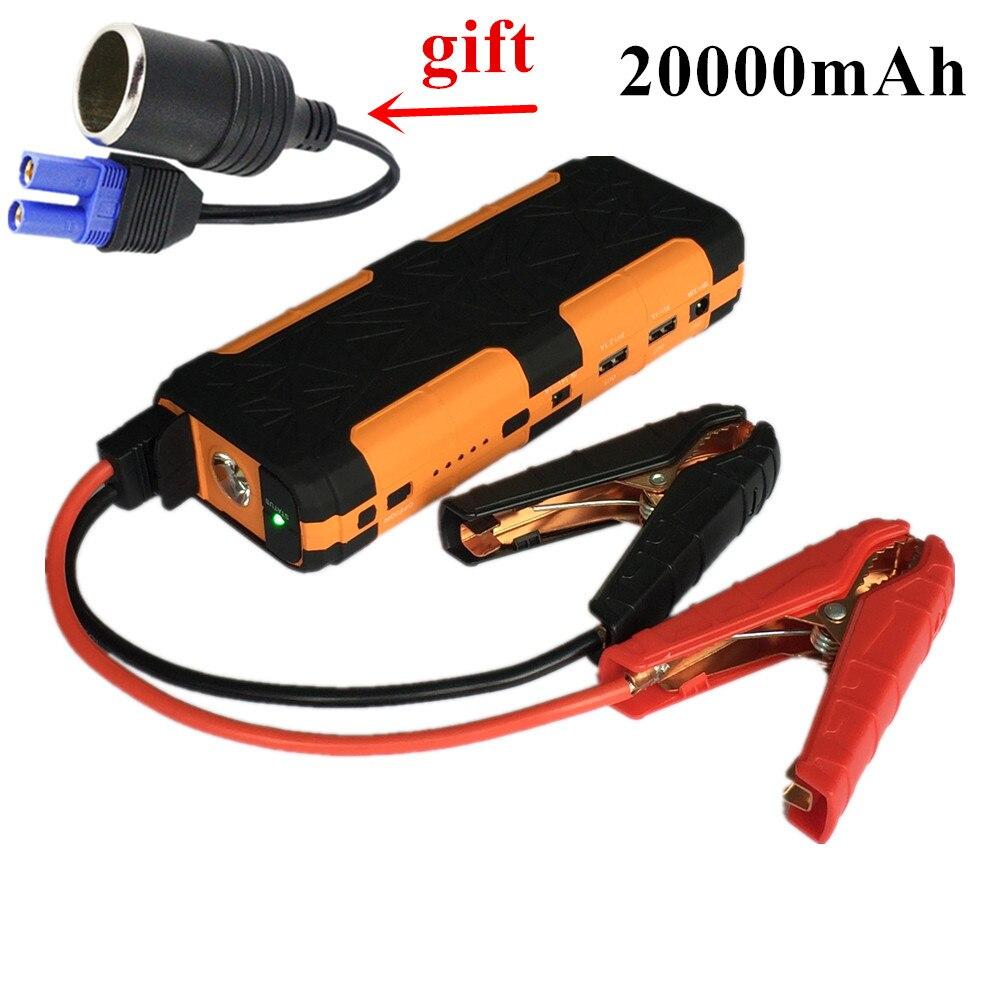 2017 Mini Car Jump Starter Portable 20000mAh Starting Device Power Bank 12V Car Battery Charger For Deisel Petrol Buster Booster new 68800mah car jump starter mini