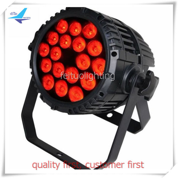 free shipping Outdoor Stage Lyre Wash 18x18w LED Par Light IP65 RGBWA UV 6in1 Par64 Can Uplight DMX Aluminum Show DJ Event Lamps