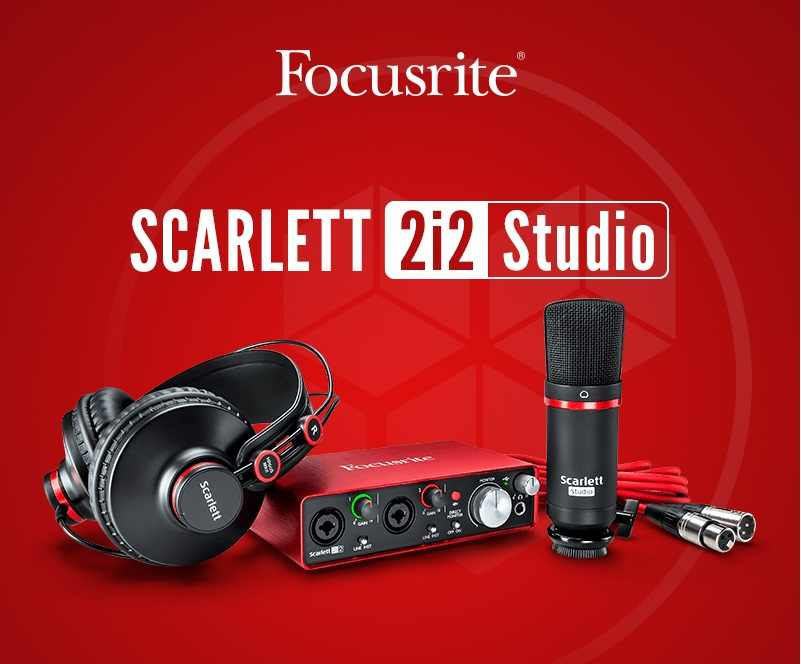 Focusrite Scarlett Solo Studio pack 2nd Gen USB recording