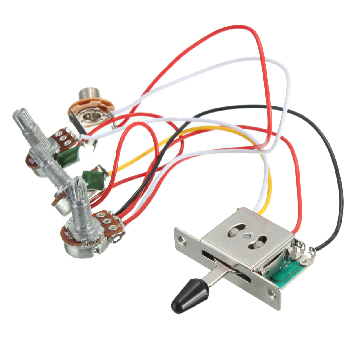 Nice Wiring Diagram For 150cc Scooter Tall Bulldog Security Com Flat Bulldog Security Remote Starter With Keyless Entry Guitar Pickup Installation Young Ibanez Hsh RedWiring Dimarzio Pickups Aliexpress.com : Buy 5 Way Switch 500k Pots Knobs Wiring Harness ..