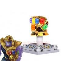 Solo Marvel Super Héroes vengadores Infinity War Thanos Iron Man Capitán América Outrider Glaivabuilding bloques de juguete para niños