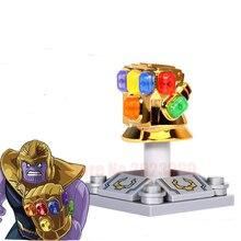 Single Marvel Super Heroes Avengers Infinity War Thanos Iron Man Captain America Outrider Glaivabuilding Blocks Toy For Children