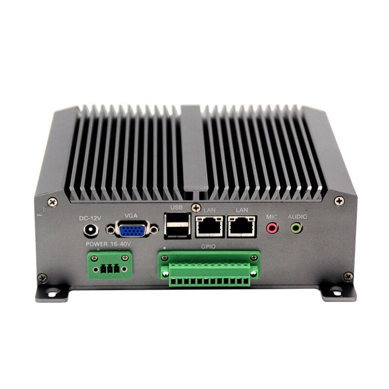 Высокая производительность вентилятора Промышленный мини-ПК N550 Процессор дополнительно тонкий клиент компьютер 2 * RS-232 8 * usb 2 RJ-45