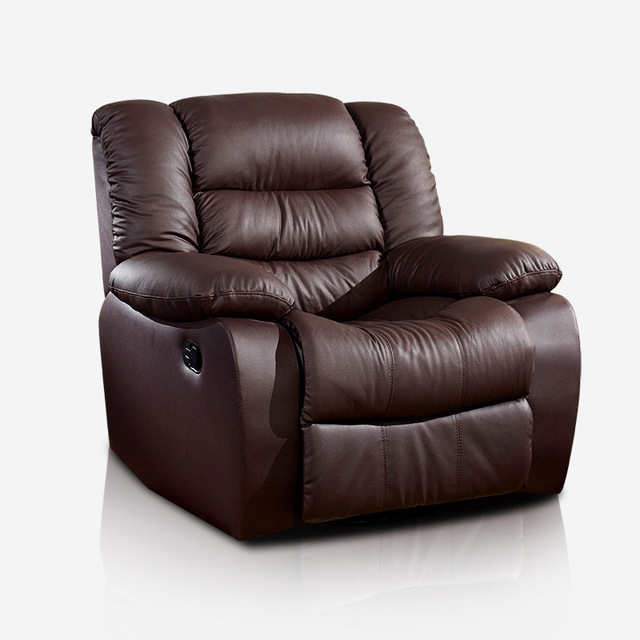 Leather Swivel Recliner Chair 4