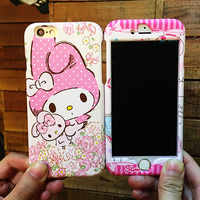 For Iphone 7 7 Plus Cartoon Case Cute Front Back 360 Full Range Matte Skin Cover