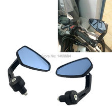 1 Pair Motorcycle End Bar Side Mirror 7/8″ Angle Adjustable Rearview Mirrors For Suzuki Bandit 400 600 For Ducati Monster
