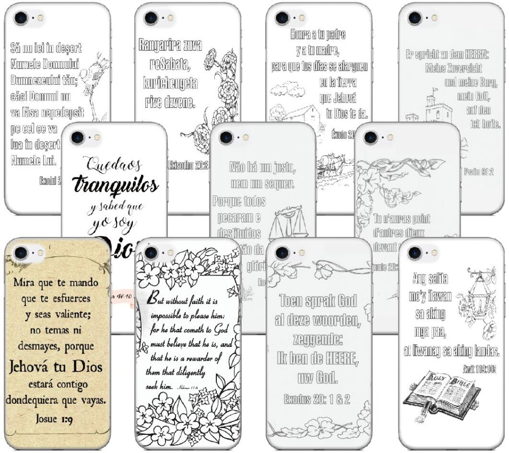 Spanish Bible Verse Cover For iphone X 4 4S 5 5S SE 5C 6 6S 7 8 Plus For iPod Touch 5 6 Hard Phone Case Capa Coque Shell Fundas