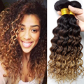 Ombre cabelo encaracolado profundo Sexy fórmula cabelo brasileiro Kinky Curly virgem cabelo 1 pcs, Beleza VIP Mink brasileiro encaracolado Rosa tecer 1b