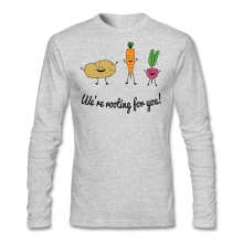 """We're rooting for you!"" longsleeve shirt"