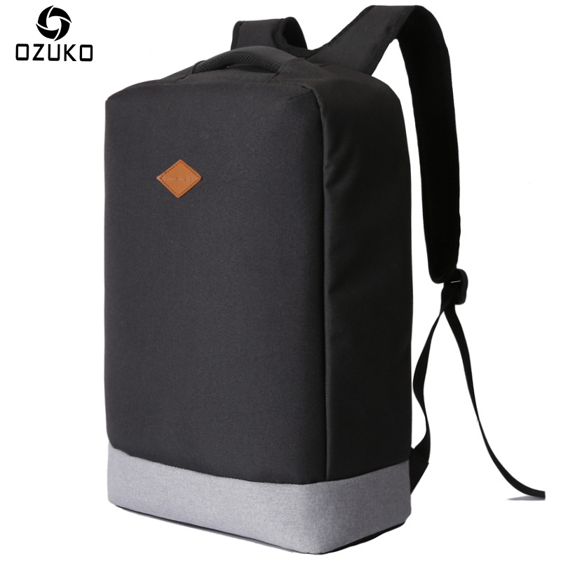 OZUKO New Multi-functional Business Men Backpack Anti-theft 15.6 inch Laptop Backpack Waterproof Travel Backpack School Bag 2017 14 15 15 6 inch flax linen laptop notebook backpack bags case school backpack for travel shopping climbing men women