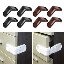 4Pcs Baby Child Safety Lock Door Buckle Drawer Cabinets Anti Pinch Hand Protect(China)