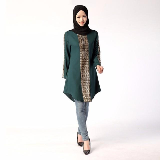 New Jilbabs Long Sleeve Abayas Caftan Arab Women Dress Turkey Dubai Style Middle East Muslim Women Above Knee Mini Fashion Dress