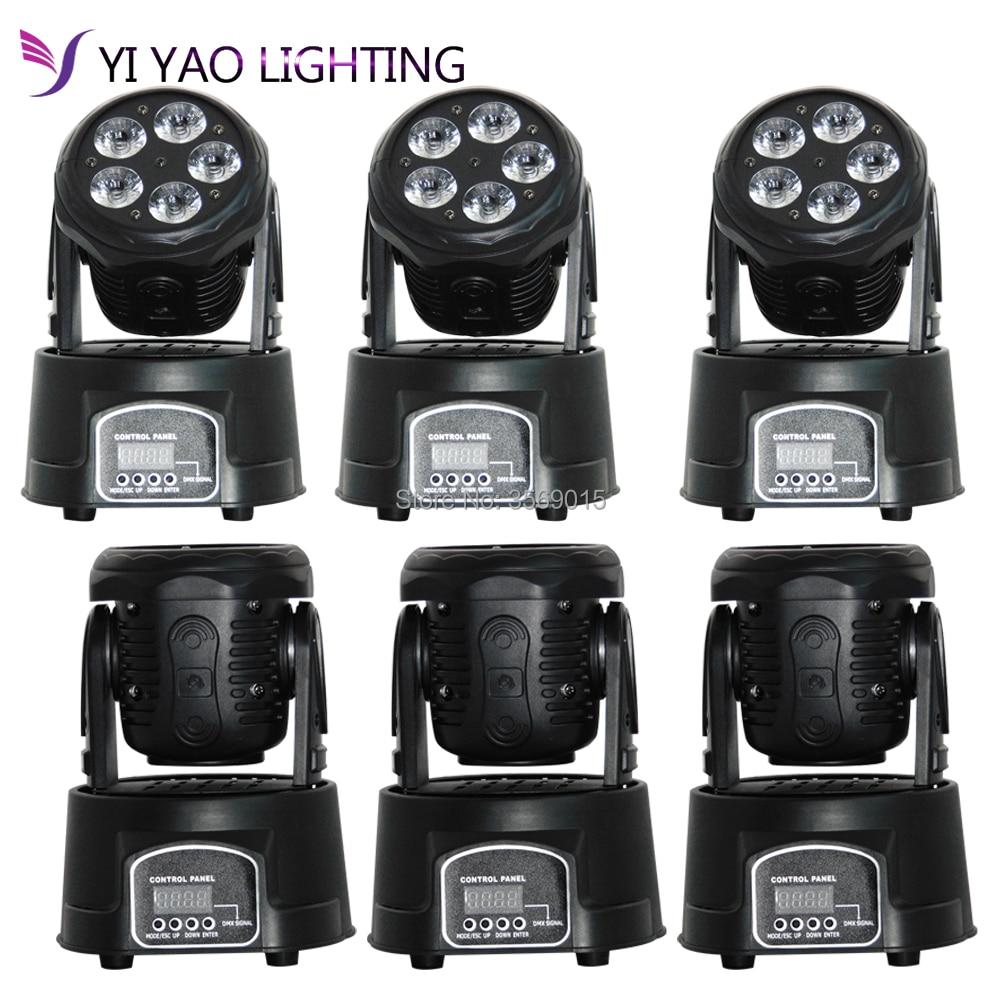 6pcs/lot Moving Head Light Mini Beam Wash 5x15W RGBW 10/15 Channels LED6pcs/lot Moving Head Light Mini Beam Wash 5x15W RGBW 10/15 Channels LED