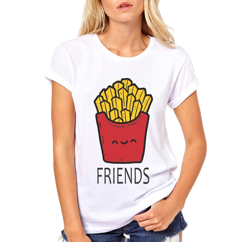 225b37f71 Αγορά Μπλούζες & μπλουζάκια | BFF Hamburger chips juice best friends 3 forever  t shirt women Homme Summer tops t-shirt Plus Size casual Tee gift