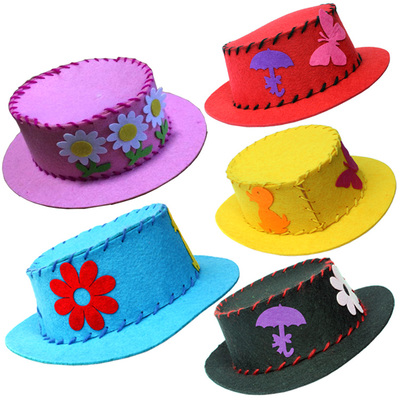 Tool Organizers 5pcs/lot Big Size Diy Colorful Eva Hat For Kids Child Sticker Toys/children Handmade Kindergarten Craft Learning Educational Toy Bright Luster