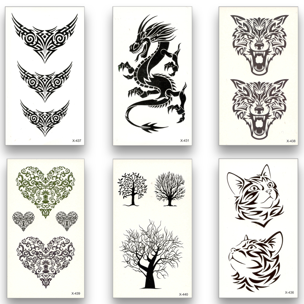 13 Estilos de Tatuaje Temporal Falso Impermeable de Transferencia de - Tatuaje y arte corporal - foto 1