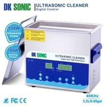 DK sonic 3.2L Цифровой Ультра sonic очиститель Таймер нагрева корзина из нержавеющей стали для протезов ювелирные часы цепи PCB Лезвия Металл Запчасти