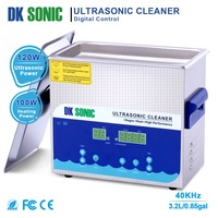 DK SONIC 3.2L Digital Ultrasonic Cleaner Timer Heating Stainless Basket for Denture Jewelry Watch Chains PCB Blades Metal Parts