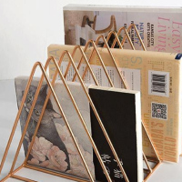 Nordic Style Iron Metal Books Storage Rack Simple Organization Newspaper Storage Holders Desktop Magazine Shelf Office Decor