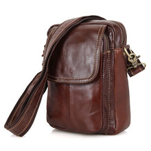 1004B Vintage Men Genuine Cow Leather Messenger Cross Body Bag