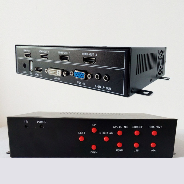 2x2 video wall processor for 4 tv video wall display hdmi dvi vga usb input hdmi output