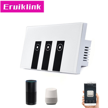 US Standard 1 2 3 4 gang Ewelink app switch,touch control panel,wifi remote control via smart phone,work with Alexa four gang wifi control wall switch us au standard touch control by app white b support double control with power monitor