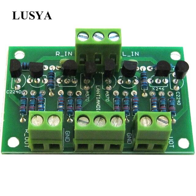Lusya Preamplifikatör Tampon Preamp 2SK246/2SJ103 C2240/A970 Için CD Çalar Amplifikatör DC 12 18 V T0706