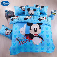 Home textile Mickey mouse Bedding Set  minnie cartoon bed Children bedclothes cover children set sheet cot