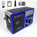 Com Dois Slot Para Cartão SD TF E Lanterna de Alta Potência Rádio Banda Completa FM/AM/SW Radio Stereo USB Speaker MP3 Player
