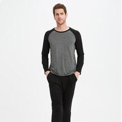 Мужские пижамные комплекты из модального материала, мужские пижамы, одежда для сна, Мужские пижамные комплекты, Pijama De Hombre 1135