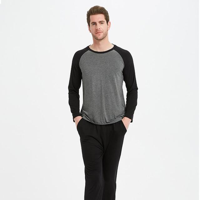 Modal matériel homme pyjamas ensembles hommes pyjamas vêtements De nuit hommes Pyjama ensemble Pijama De Hombre 1135