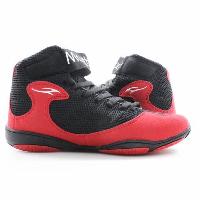 MAULTBY 1.0 Speed Men's Boxing Fitness Training Boot Black / Red Wrestling Shoes
