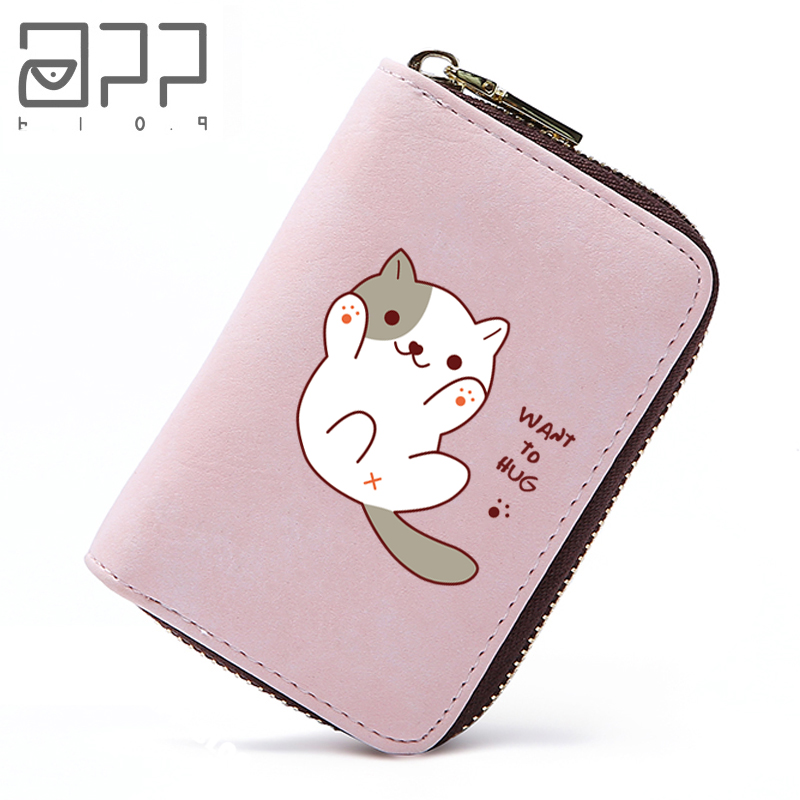 APP BLOG Brand Cute Cat Travel Passport Cover ID Credit Card Bag Cute Monster PU Leather Business Card Holder Passport Holder