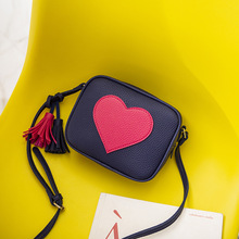 New Fashion Designer Women Messenger Bags Mini Tassel  Shoulder bag Pu Leather Love Flap bolsa feminina benviched 2018 new winter fashion pu leather women shoulder bags top handle women bags plush messenger bags bolsa feminina l100