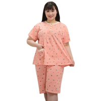 New SALE 5XL 100% cotton women short pajamas sets Fresh short sleeve sleepwear women Floral plus size pyjamas 130KG XXXXXL