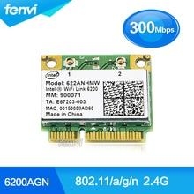 Red de banda dual a 300 mbps wifi wlan intel 6200 agn 622 6235anhmw inalámbrica 802.11a/g/n media mini pci-e tarjeta para dell acer asus