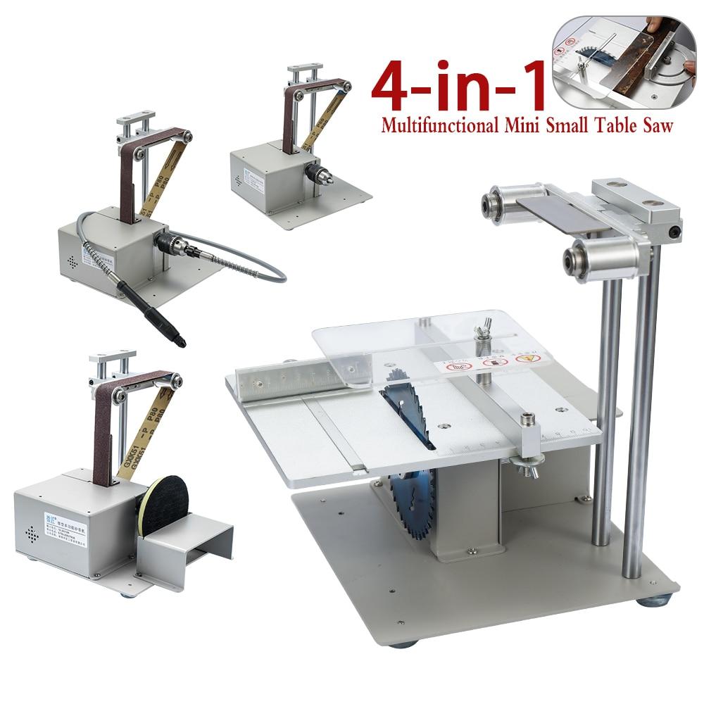 KKMOON 4-in-1 Multifunctional Handmade Mini Belt Sander Woodworking Electric Saw DIY Model Cutting Machine Set Kit