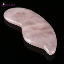 100% Natural rose quartz relax guasha board for wrinkle removal whitening face care beauty face equipment tools