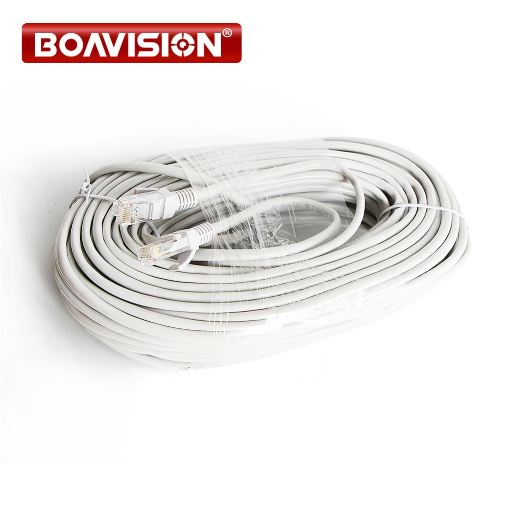 RJ45 Cable 10m / 20m / 30m / 50m Gray CAT5/CAT-5e Ethernet Cable RJ45 CCTV Network Lan Cable For NVR System IP Cameras