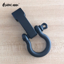 10 Pcs / Lot Black Scrub O Shape Adjustable SHACKLE Buckle for SURVIVAL EMERANCY 550 Paracord Bracelet outdoor EDC tool