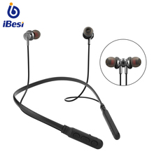 IBESI Y06 Bluetooth Earphone Sport Wireless Headphones Neckband Magnetic Headset Handfree