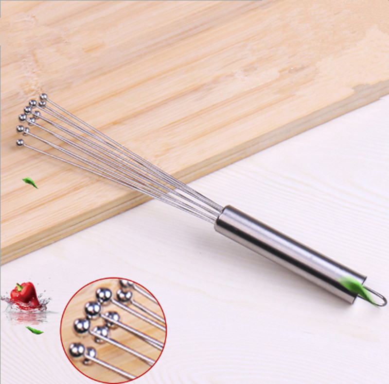 Stainless Steel Ball Whisk Egg Beaters Egg Stirrer Hand Mixer Kitchen  Cooking Tools Accessories
