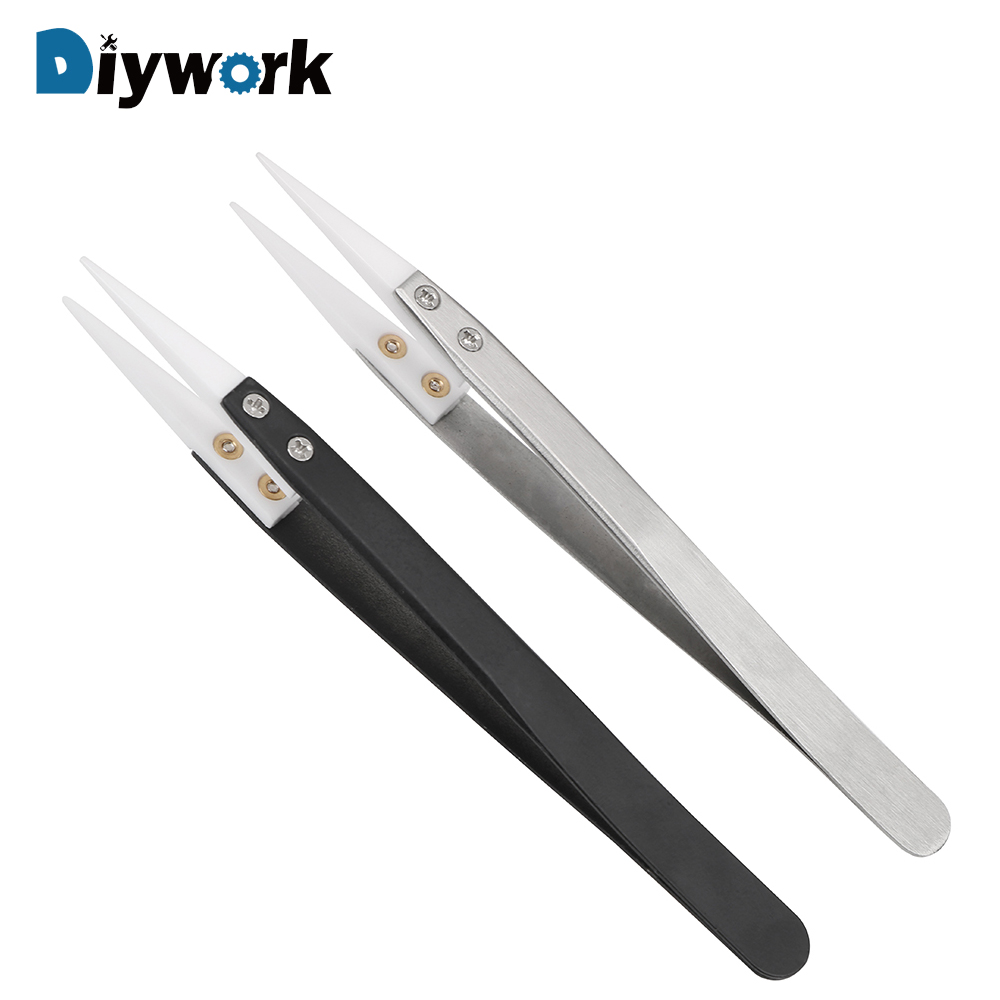 Hand Tools Back To Search Resultstools Honesty Ootdty Ceramic Tweezers With Stainless Steel Handle Curved Aimed Tweezers